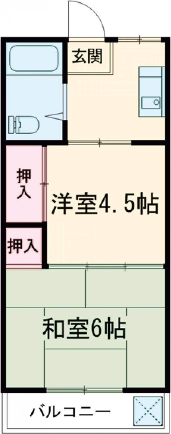 豊川マンション 304号室の間取り