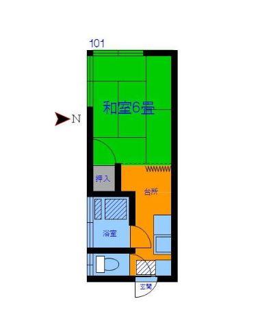 豊島ハウス 201号室の間取り