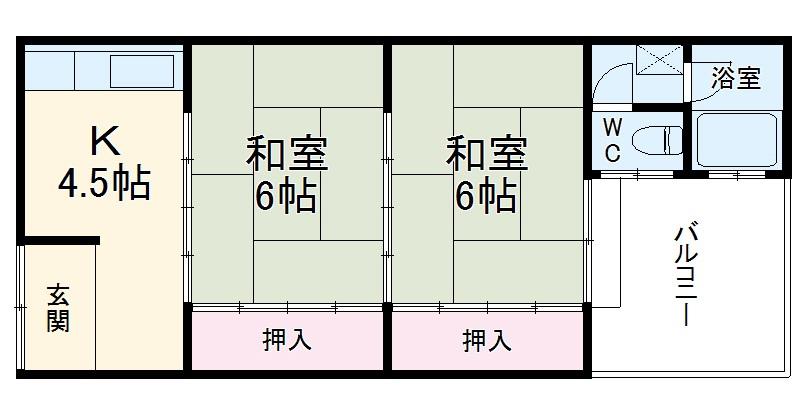 千々川マンション 303号室の間取り