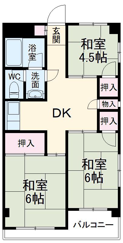 渋谷ハイツ 301号室の間取り