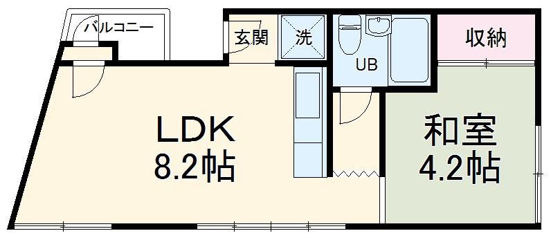 鈴木アパート E号室の間取り