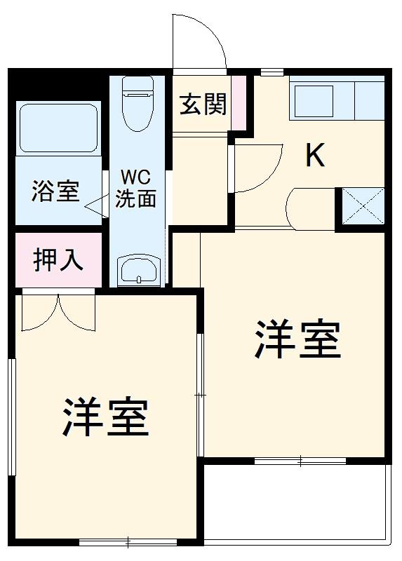 東マンションⅡ 5-A号室の間取り