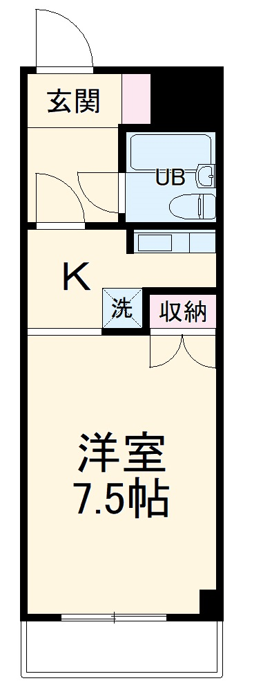 is高師 210号室の間取り