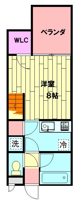 セザンヌ小坂井 203号室の間取り