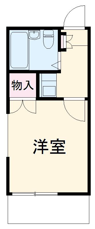 中岩田レジデンス 202号室の間取り