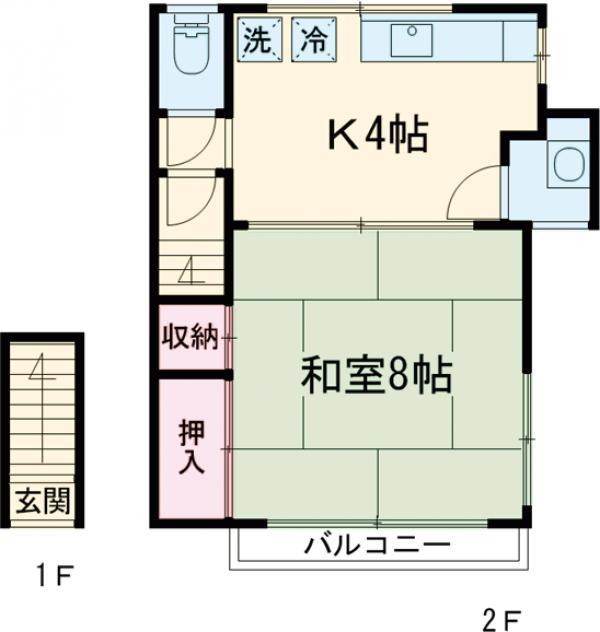 鈴木アパート 202号室の間取り