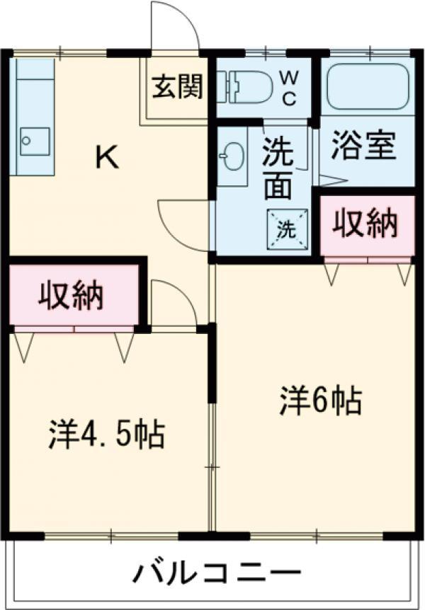 第一豊田マンション 102号室の間取り