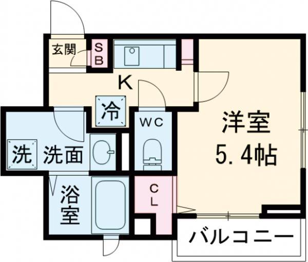 仮称)五本木3丁目計画 203号室間取り図