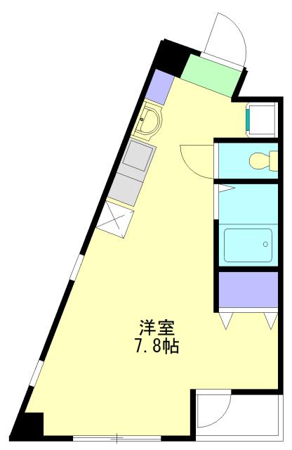 ラ カシータ大倉山 201号室の間取り