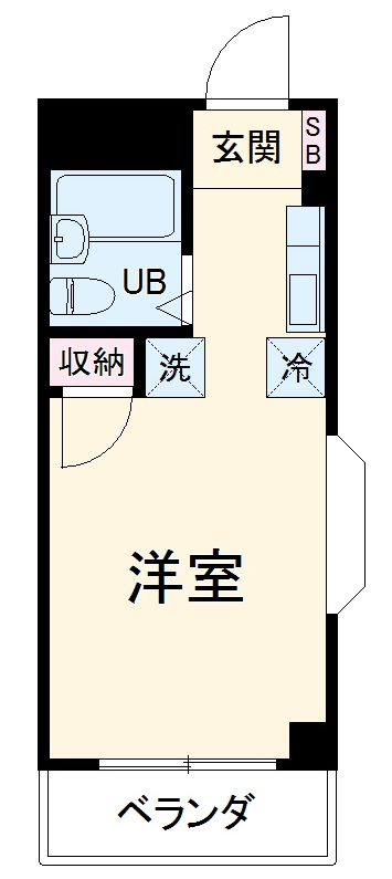 中川ビル 306号室の間取り