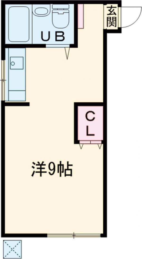 宮入荘 S3号室の間取り