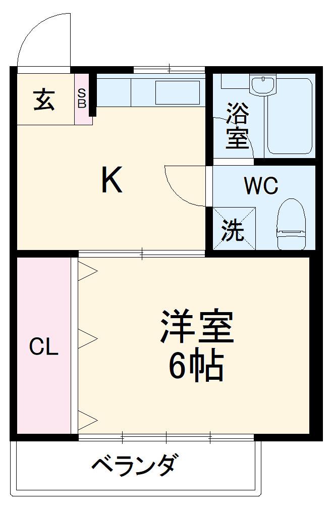 WJ・W-3ハイツ 206号室の間取り