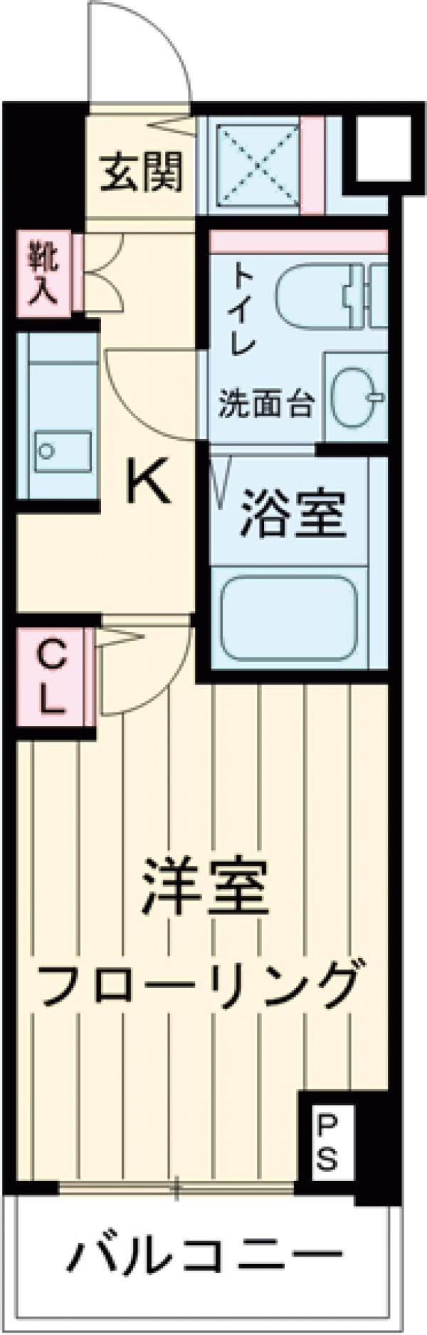 スカイコート中村橋第2 201号室の間取り