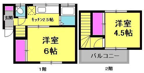 富士見1丁目テラスハウスの間取り