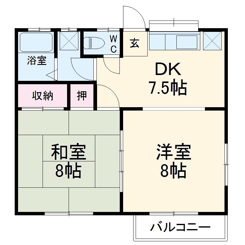 メゾン・シマムラA 201号室の間取り