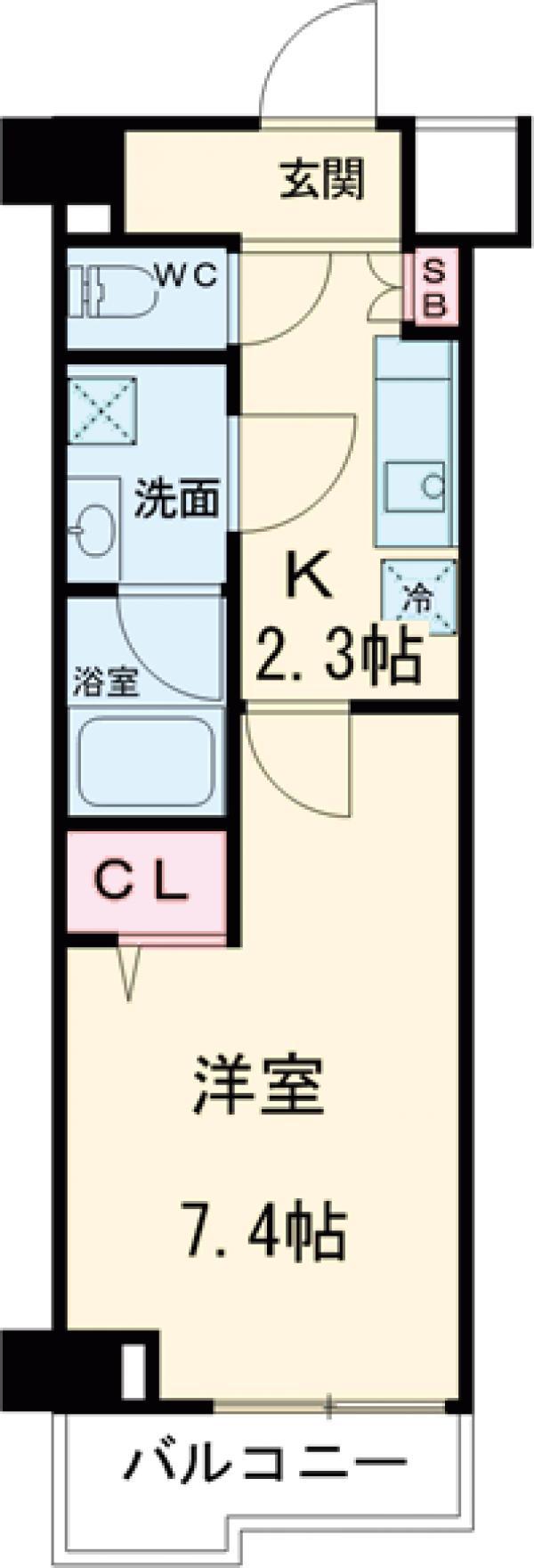 スカイコートグレース新宿中落合 112号室の間取り