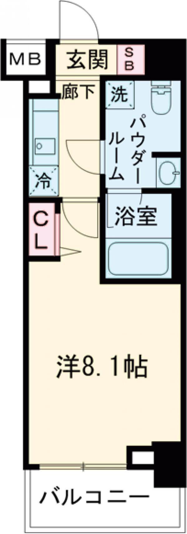 パティーナ東武練馬 102号室の間取り