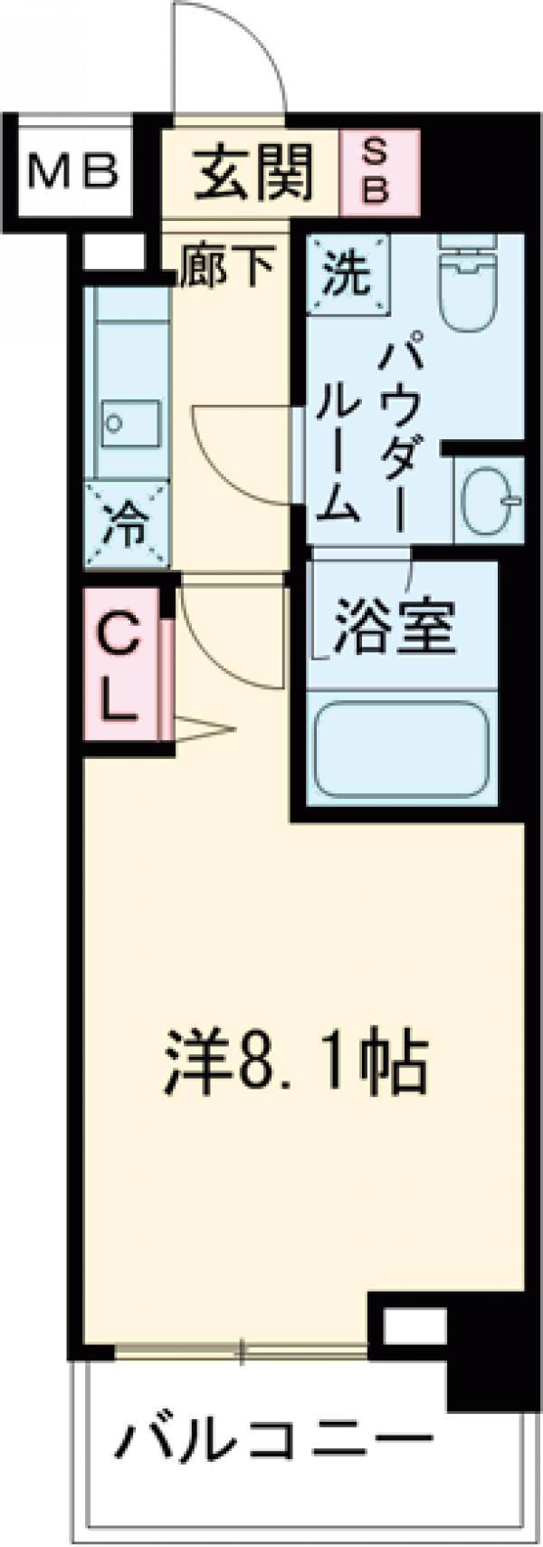 パティーナ東武練馬 302号室の間取り