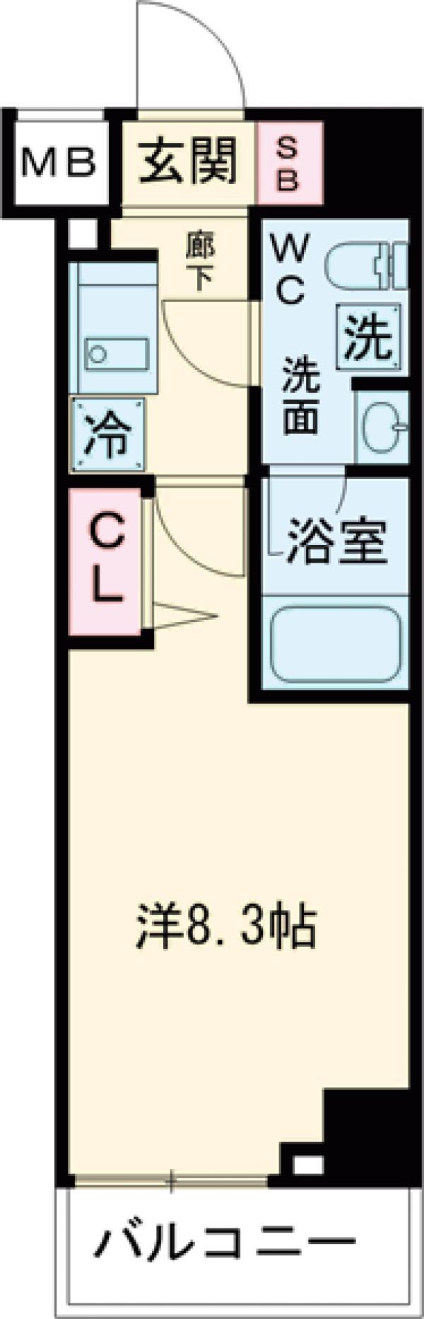 パティーナ東武練馬 314号室の間取り