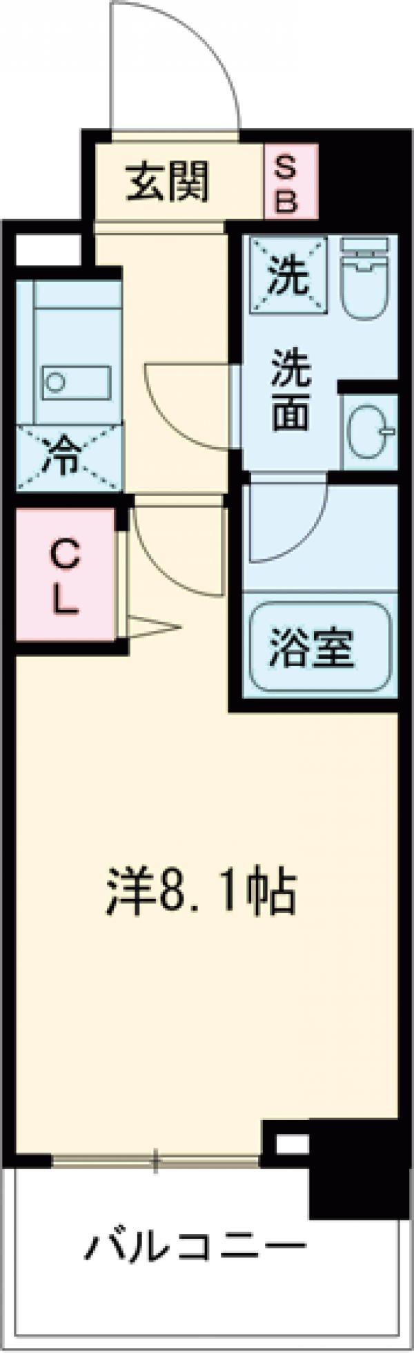 パティーナ東武練馬 602号室の間取り