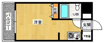メゾン・ド・祇園 808号室の間取り