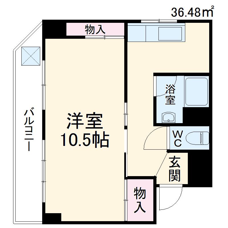 ローズマンション第1博多 302号室の間取り