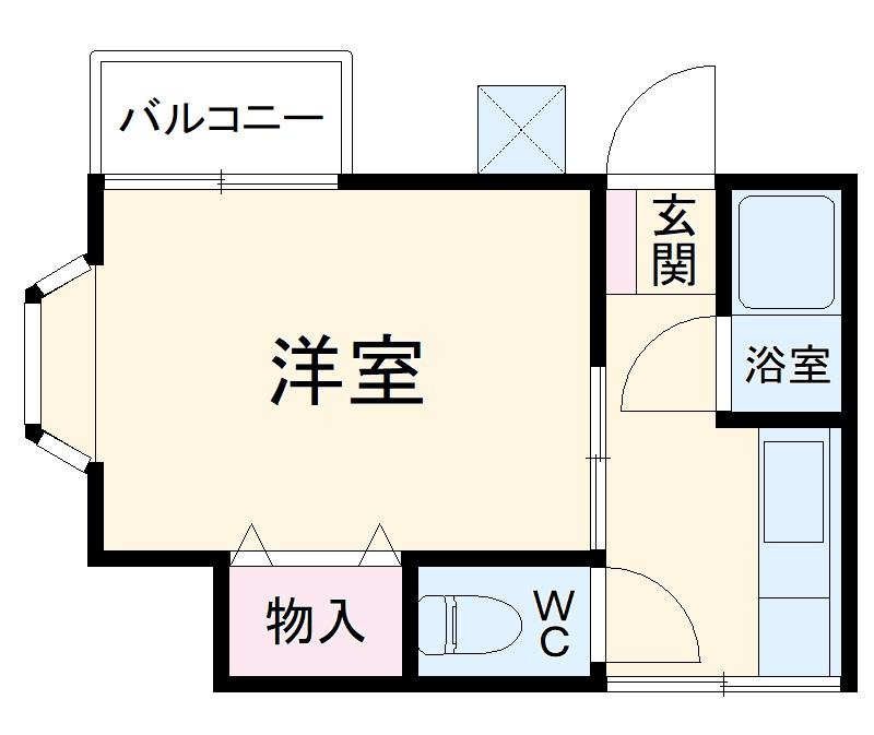 岡野ハイツ三山 205号室の間取り