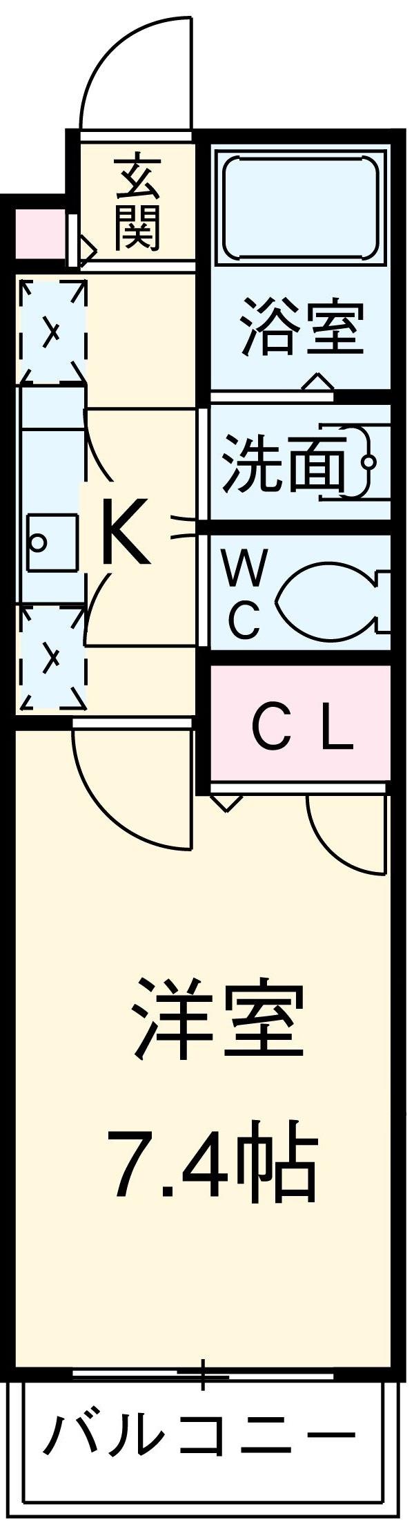 Central Perk 404号室の間取り