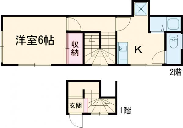 足立ハウス 2F号室の間取り