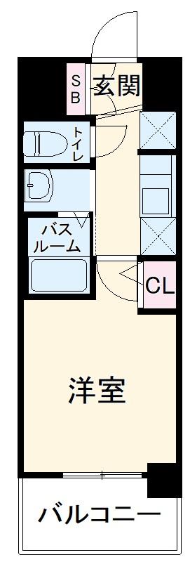 エステムコート名古屋ステーションクロス 802号室の間取り