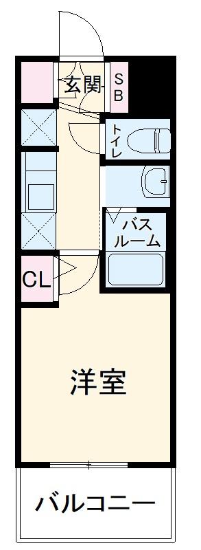 エステムコート名古屋ステーションクロス 1304号室の間取り