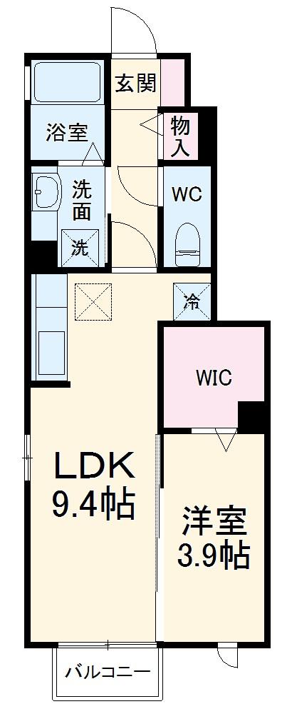 (仮称)D-room宝地 102号室の間取り