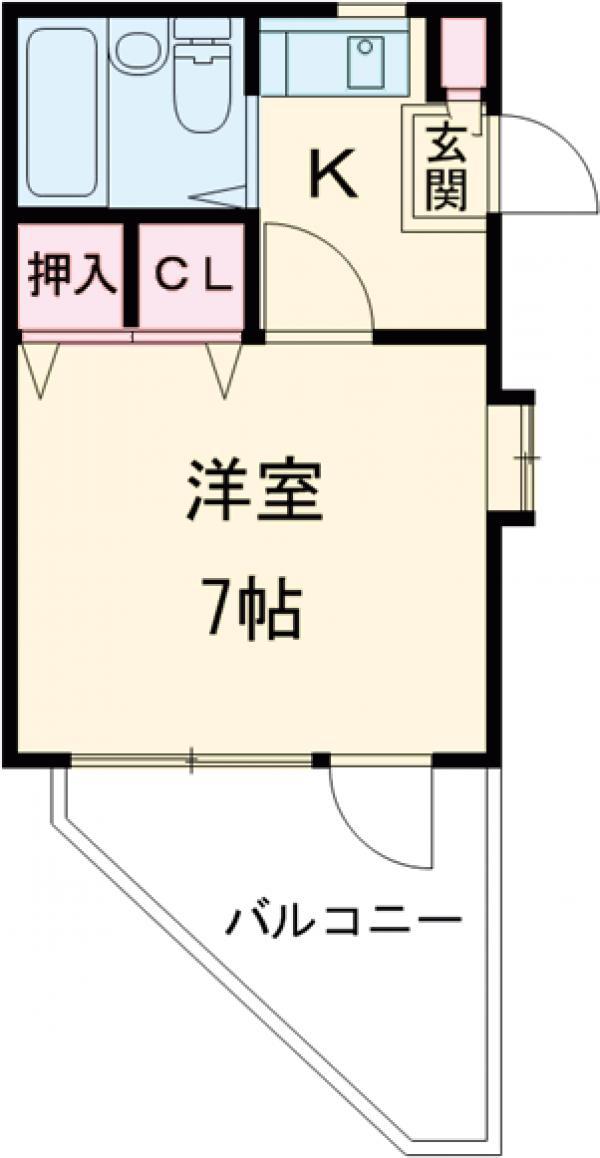 フラット桜ヶ丘 303号室の間取り