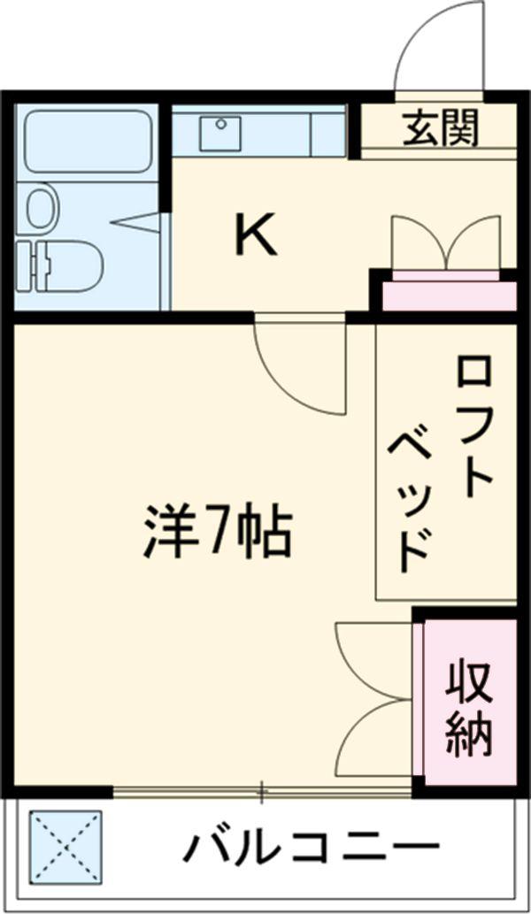 コートビレッジ桜ヶ丘パートⅡ A103号室の間取り