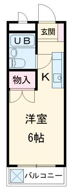 ストークマンション小礒2 202号室の間取り