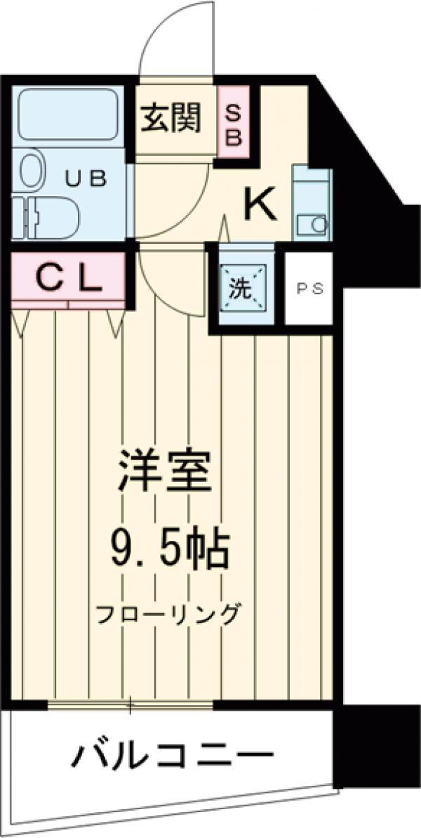 ライオンズシティ聖蹟桜ヶ丘 111号室の間取り