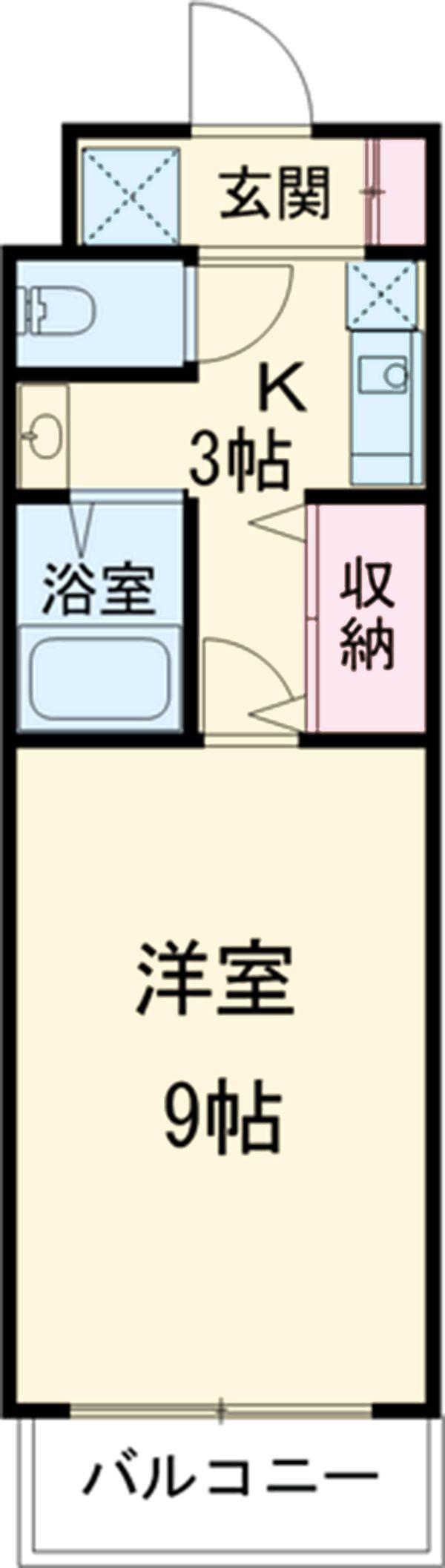 ROXY TAKAHATA 2411 105号室の間取り