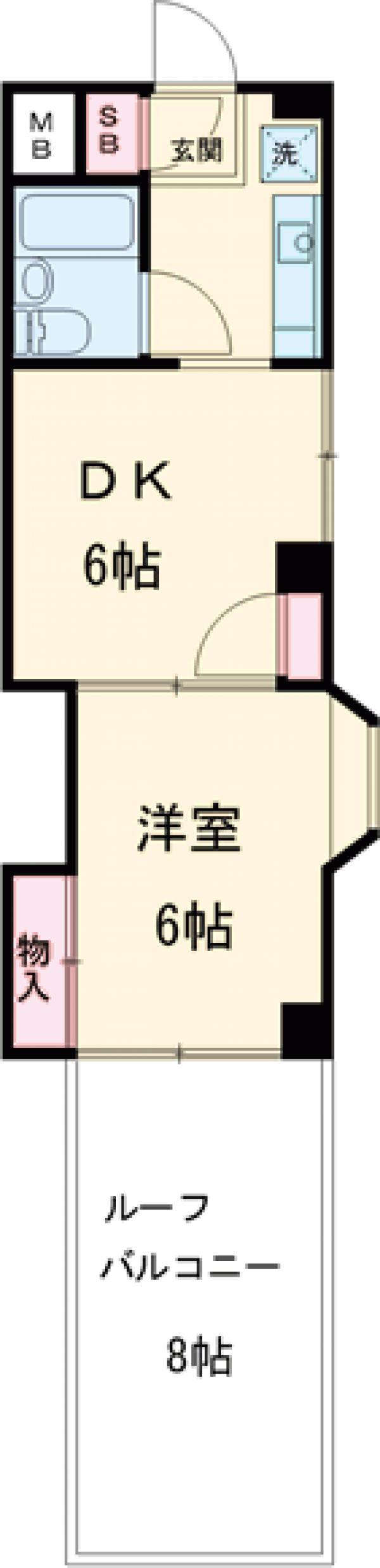 ウィンド聖蹟桜ヶ丘 503号室の間取り