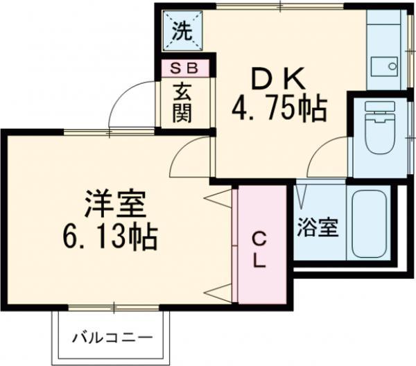 ヴィヴェール桜ヶ丘 101号室の間取り