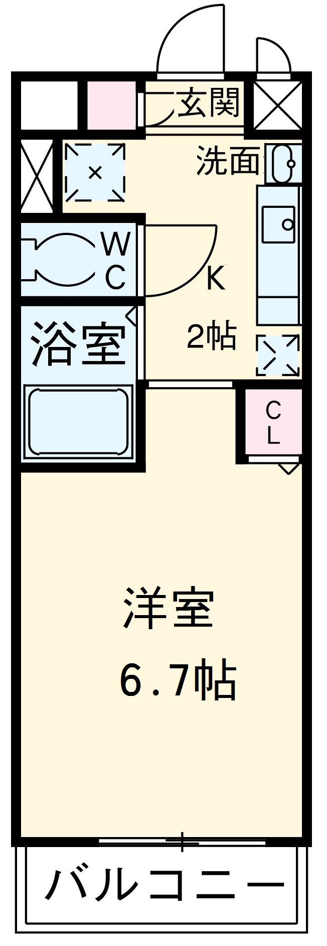 ライジングコート名古屋駅前東 203号室の間取り