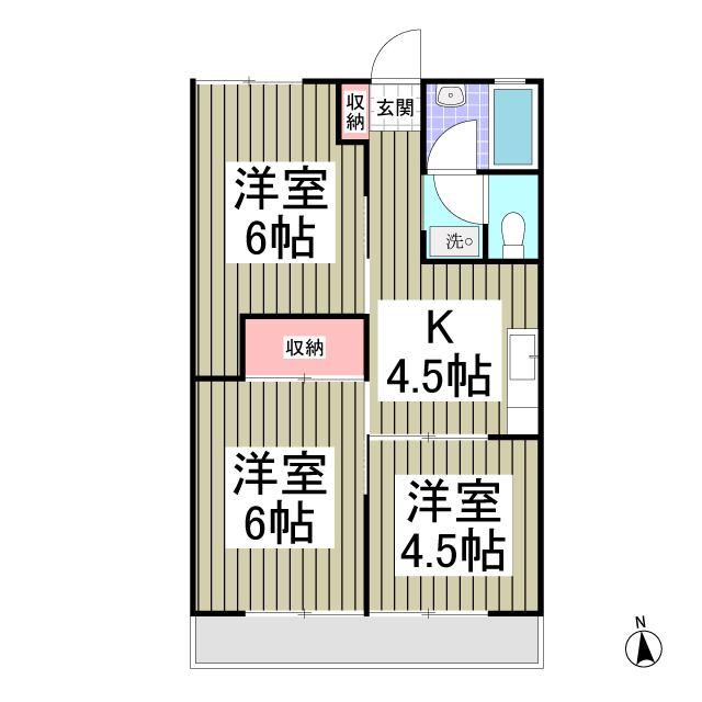 ファミール東松山 203号室の間取り