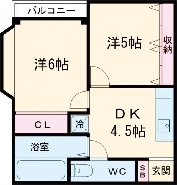 駒込コープ 301号室の間取り