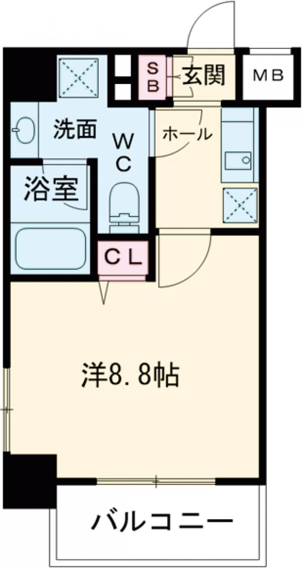 HY's田端Ⅱeast 701号室の間取り
