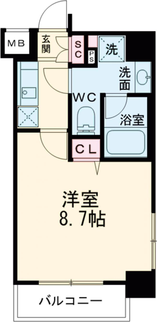 HY's田端Ⅱeast 1002号室の間取り