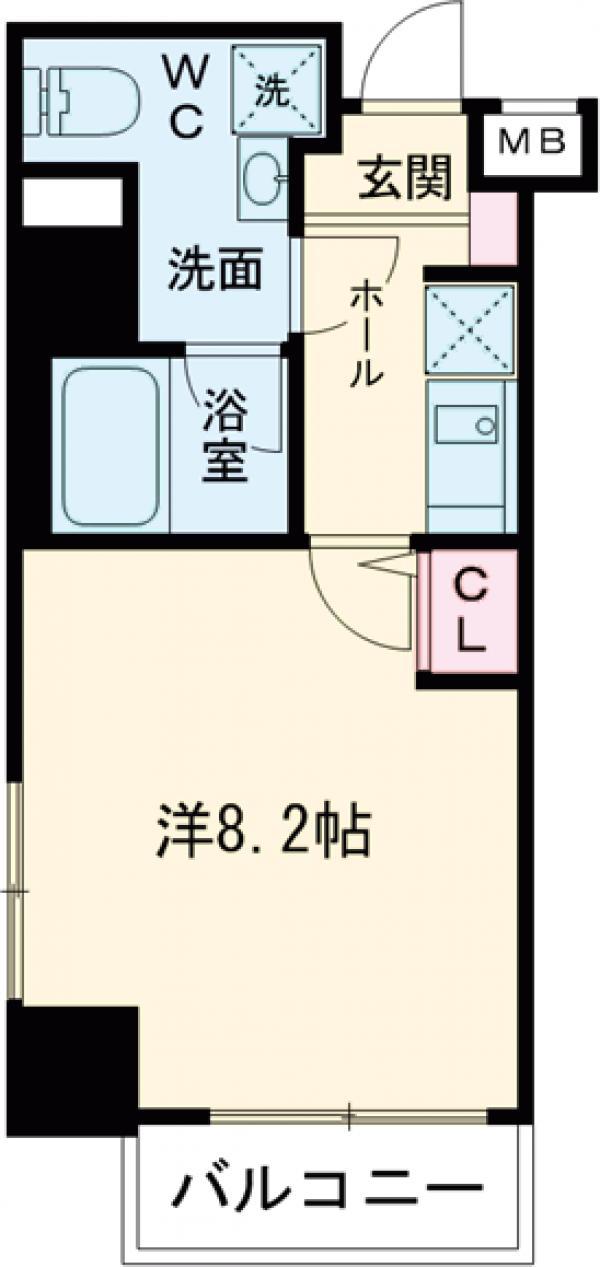 HY's田端Ⅱeast 1003号室の間取り