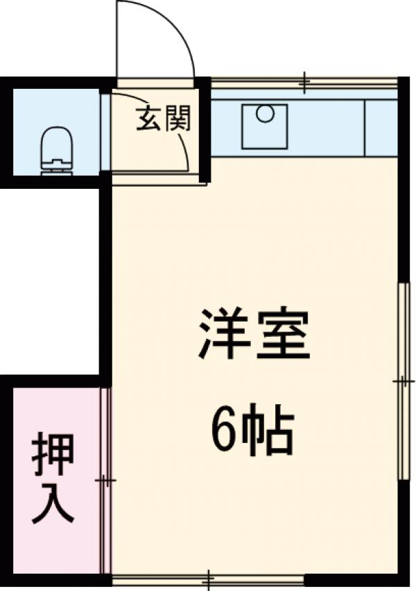 大橋荘 7号室の間取り