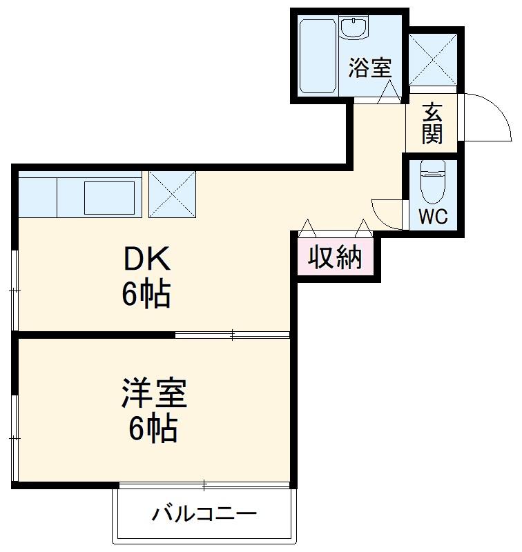 メゾン西生田 202号室の間取り