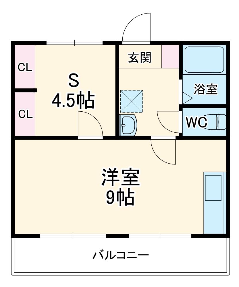 横山町apartment 203号室の間取り