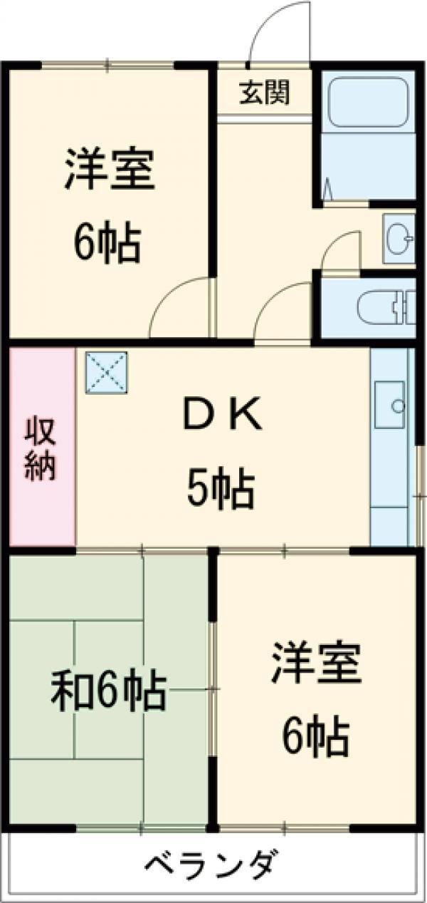 高関コーポ 305号室の間取り