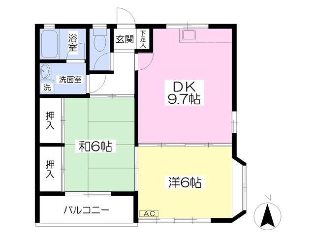 サンハイツ斉藤 101号室の間取り